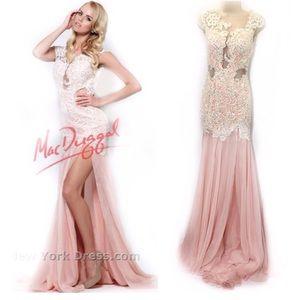 Mac Duggal 0 Gown Mermaid Chiffon Crystal 61041R